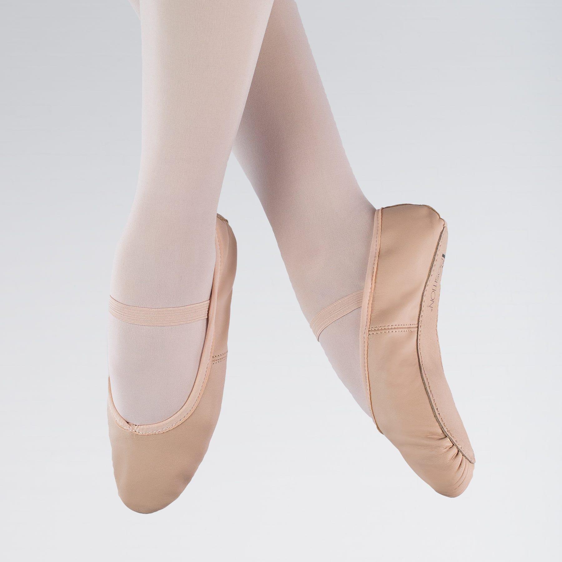 Leder-Ballettschuhe