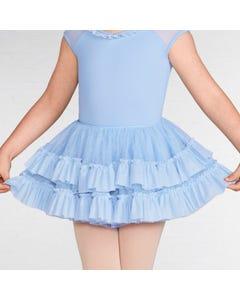 Mirella Girls Glitter Mesh Frill Tutu Skirt