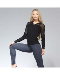 Ballet Rosa Midori Bambus Hoodie mit Reißverschluß