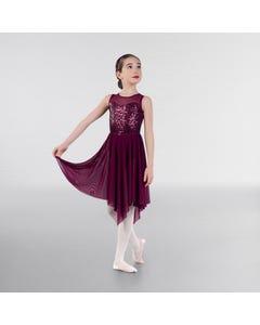 1st Position Lyrisches Kleid mit Pailletten und breiten Trägern
