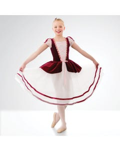 1st Position Velours Ballettkleid mit Korsettmieder
