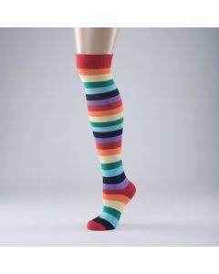 Bunt gestreifte Socken - Einheitsgröße Erwachsene