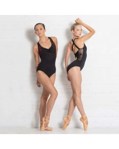Ballet Rosa Anette - Besticktes Trikot mit überkreuzten Trägern auf dem Rücken
