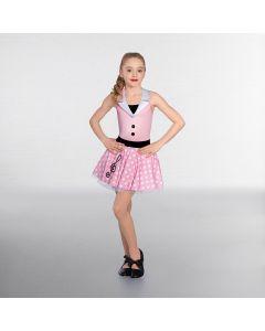 1st Position Gepunktetes Neckholder-Kleid mit Notenschlüssel