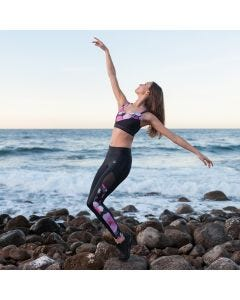 Dansez ELECTRA Tanz- & Fitness Leggings in wolkingem Blumen Design