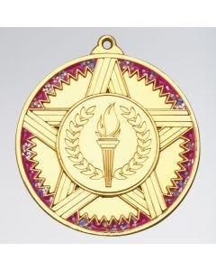 Medaille mit Sternen, Streifen und Glitzer