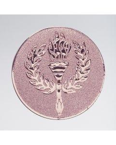 Trophäen-Mittelstück mit Fackel und Kranz aus Metall