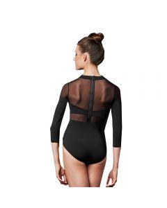 Tanz-Body mit Netzeinsatz und Reißverschluss