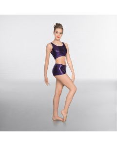 1st Position Metallic Hot Pants Purple