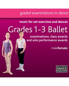 RAD Grades 1-3 Ballett CD