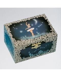 Schmuckkästchen mit Ballerina-, Mond- und Sternen-Motiv