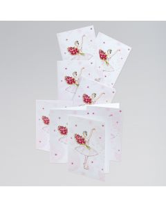 Ballerina/Blumen Karten (8er Pack)