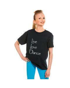 """T-Shirt mit Aufschrift """"Live Love Dance"""""""