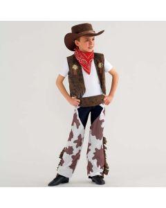 Cowboy Kostüm (Kuhmuster) für Kinder