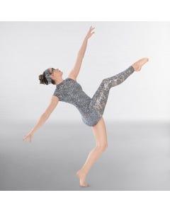 1st Position Asymmetric Sequin Lace Contemporary Catsuit