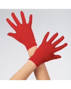 Rote Satinhandschuhe - Kindergröße
