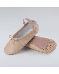 Basic Ballettschuhe aus Leder in Rosa