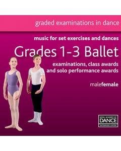RAD Grades 1-3 Ballett CD