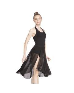 Neckholder-Kleid mit raffiniertem Rücken-Design