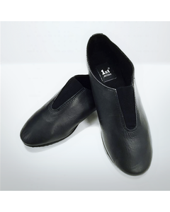 1st Position Leather Jazz Front Gusset Elasticated Shoes