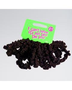 Schwarze Haarbänder mit Gummiband