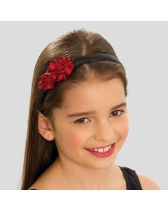 Haarreif mit roten Rosen