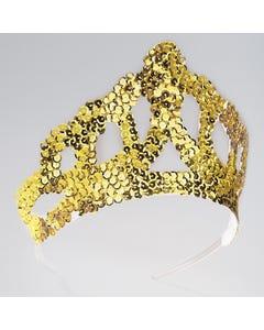 Große Tiara mit goldfarbenen Pailletten