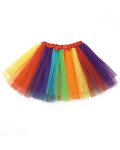Bunter regenbogenfarbener Tutu Rock