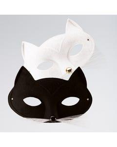Katzen-Gesichtsmaske Weiss